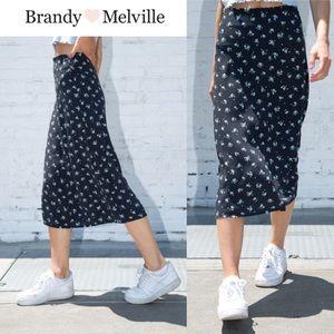 BRANDY MELVILLE Phoebe Midi Floral Skirt NWT s.XS